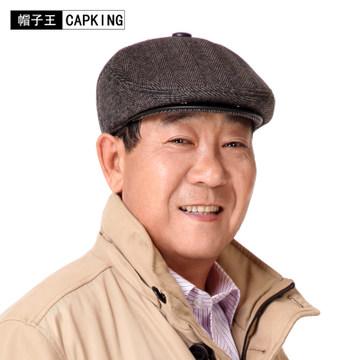老人帽子 男 冬 中老年男士帽子 老年人帽子男 鸭舌帽男帽 毛呢帽