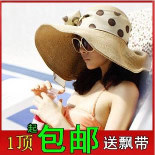 【此款帽子已下架】夏天女式大沿帽遮阳帽沙滩帽