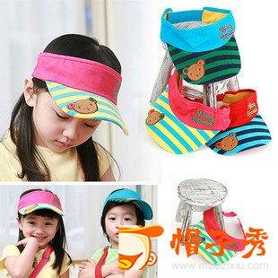 夏天款儿童空顶帽 宝宝帽子 婴儿太阳帽 男女童遮阳帽 鸭舌帽 防晒帽