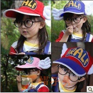 包邮送眼镜韩国版阿拉蕾宝宝棒球帽儿童亲子帽子天使翅膀帽春夏