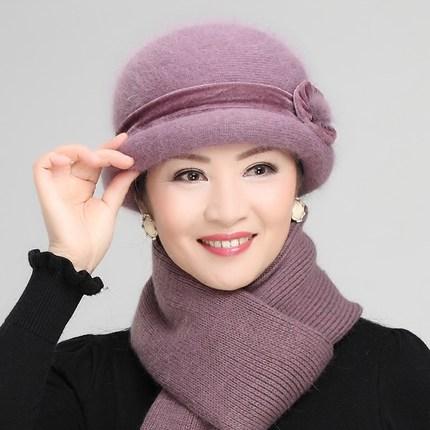 妈妈帽子女秋冬中年围