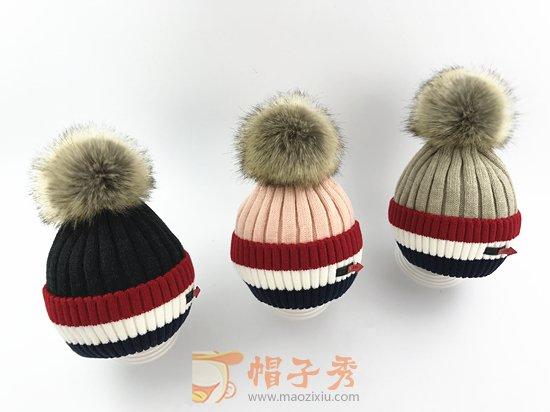 宝宝帽子冬季1-2-8岁加棉衬护耳男童女童针织帽秋冬天儿童毛线帽