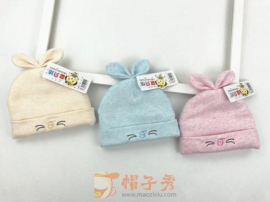 婴儿帽子冬季0-3个月加厚纯棉新生儿胎帽2秋冬天男童女宝宝套头帽-胎帽